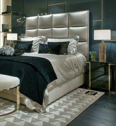 Fendi Casa - dom mody we wnętrzu Bedroom Colour Palette, Bedroom Colors, Bedroom Sets, Bedroom Decor, Modern Bedroom Furniture, Home Decor Furniture, Mid Century Modern Bedroom, Luxury Bedroom Design, Glam Living Room