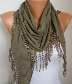 Lace Scarf - Summer scarf shawl - Sale scarf - Free scarf - Beige - fatwoman. $18.00, via Etsy.