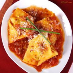 Tortelli of Potato and Chives All' Arrabbiata by Mario Batali! #TheChew