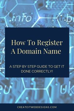 Are you interested in registering a domain name?   Purchasing a domain name or URL is an easy process with GoDaddy.  Most domain names cost about $20 a year.  Own a piece of the internet to claim as yours!  Plus, included is how to get a domain name for FREE!.  #registerdomainname #webdesign #domainnameideas #howtoblog #howtobuildawebsite #websitedesign Business Tips, Online Business, Content Marketing, Digital Marketing, Domain Name Ideas, Website Security, Website Maintenance, Simple Website