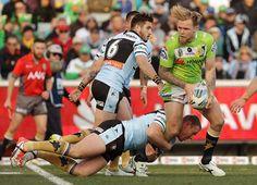 2015 NRL Rd 19 - Canberra Raiders v Sharks - Blake Austin