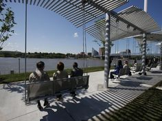 Love the swings at Smale Riverfront Park