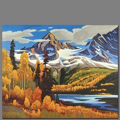 Nicholas Bott Watercolor Landscape Paintings, Seascape Paintings, Cool Paintings, Landscape Art, Watercolor Art, Canadian Painters, Canadian Artists, Mountain Pictures, Painter Artist