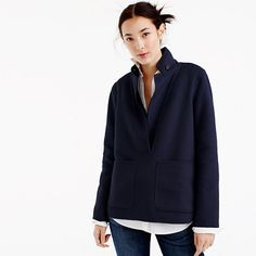 """A next-level take on the poncho, in swaths of luxurious double-faced Italian cashmere (it's the finest in the world). Featuring blazer-inspired details for a touch of tomboy edge, this is the kind of layer you'll wear—and love—for seasons to come. <ul><li>Body length: 26 1/4"""".</li><li>Sleeve length: 32 1/2"""".</li><li>Hits at the hip.</li><li>Italian cashmere.</li><li>Pockets.</li><li>Machine wash.</li><li>Import.</li></ul>"""