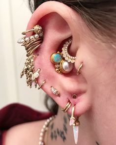 how to wear tragus piercing earrings inspiration idea Jewelry Nickel Free Loop Star Segment Nose Lip Clicker Ring Ear Studs For Women Girls Men Anti Tragus Conch Nose Snug Rook Daith Lobe Crystal Earrings, Crystal Jewelry, Tragus Piercing Earrings, Dermal Piercing, Daith, Tatuajes Tattoos, Multiple Ear Piercings, Body Piercings, Body Mods