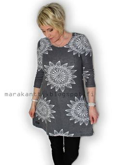 Marakantti: Mekko yhdessä tunnissa Sewing Clothes, Diy Clothes, Clothes For Women, Sewing Hacks, Sewing Tutorials, Sewing Projects, Dress Patterns, Sewing Patterns, Tunic Pattern