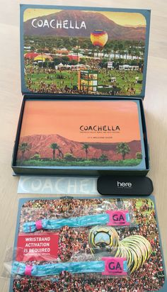 Wristbands and program materials for 2016 COACHELLA Valley Music and Arts Festival. Party Wristbands, Cochella, Coachella Festival, Coachella Valley, Disco Party, Party Themes, Eyeshadow, Rock, History
