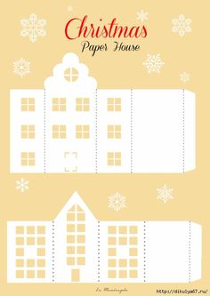 image result for free pattern cardboard christmas houses christmas