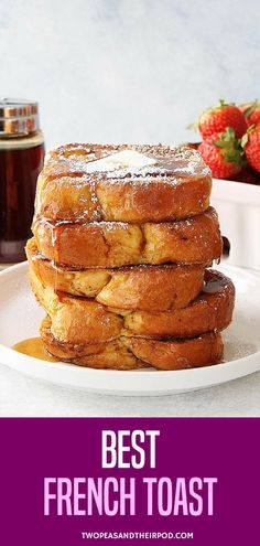 The Best French Toast Recipe It Is Easy To Make At Home And The Perfect Breakfast For Weekends Or Any Day Serve This Light And Fluffy French Toast With Butter, Maple Syrup, And Powdered Sugar. Visit For More Simple, Fresh, And Family Friendly Meals. Breakfast Toast, Perfect Breakfast, Breakfast Dishes, Breakfast Ideas, Breakfast Potatoes, Breakfast Muffins, Mini Muffins, Breakfast Casserole, Breakfast Recipes
