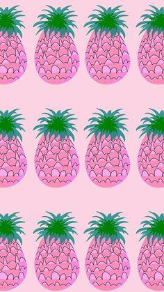 Abacaxi / Wallpaper / lockscreen / padrão / rosa