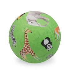 Crocodile Creek Wild Animals Green Playground Ball 7 inches Toy for Like the Crocodile Creek Wild Animals Green Playground Ball 7 inches Toy? Safari Animals, Woodland Animals, Cute Animals, Wild Animals, Sports Games For Kids, Sports Toys, Softball, Baby Accessoires, Developmental Toys