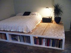Queen Bed Frame With Storage - i'm diy'ing this one...