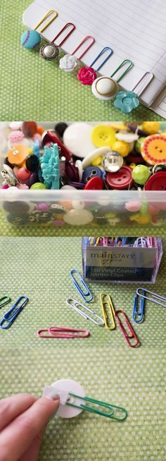 How To Make Paperclip Button Bookmarks | The WHOot
