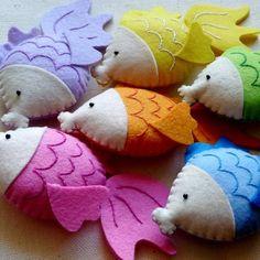 Gertrude the Goldfish - Stuffed Felt Animal Fish