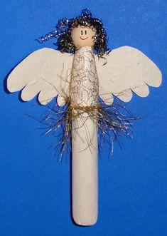 Engel aus Wäscheklammern - Handmade Kultur