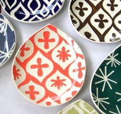 CeramicaBotanica handmade Appetizer/Dessert Plates