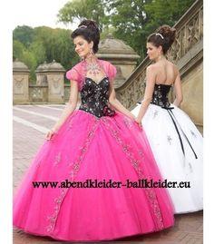 f7660ec3e4 Sissi Kleid Abend - Ballkleid in Pink Schwarz Vestidos De Quince