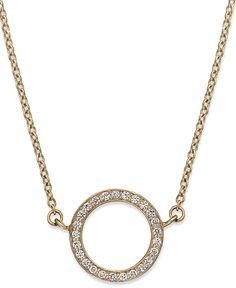 YellOra Diamond Open Circle Pendant Necklace in YellOra (1/6 ct. t.w.)