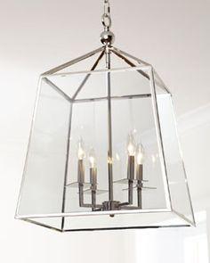 H64V3 Regina-Andrew Design Square Glass Chandelier - Horchow
