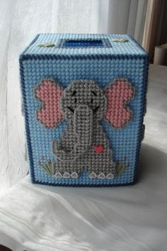 Elephant Tissue Box Cover