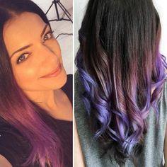 Haare braun mit lila stich