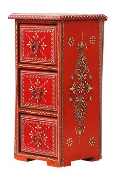Bulk Wholesale Handmade Wooden Jewelry Box with 3 Chest Drawers in Red Col. - Bulk Wholesale Handmade Wooden Jewelry Box with 3 Chest Drawers in Red Col… – - Painted Wooden Boxes, Funky Painted Furniture, Wooden Chest, Handmade Jewelry Box, Wooden Jewelry Boxes, Personalized Jewelry, Kegel, Jewelry Quotes, Discount Jewelry