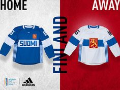 World Cup of Hockey 2016 Jerseys - Team Finland