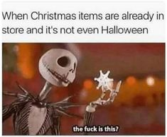 When Christmas Items Are Already In Store And It's Not Even Halloween halloween halloween pictures halloween images halloween photos halloween memes images of halloween Halloween Tags, Halloween Decorations, Halloween Christmas, Halloween Halloween, Spooky Decor, Halloween Pictures, Christmas Decorations, Stupid Funny, Funny Cute