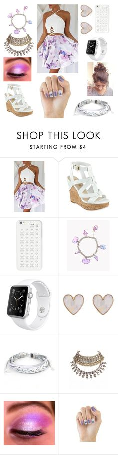 """""""Nice and perfect🙎"""" by jadyndaviscourt ❤ liked on Polyvore featuring MICHAEL Michael Kors, Pusheen, Apple, New Look, West Coast Jewelry and Elegant Touch"""