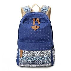 Women-Girl-Canvas-Shoulder-School-Bag-Backpack-Travel-Satchel-Rucksack-Handbag