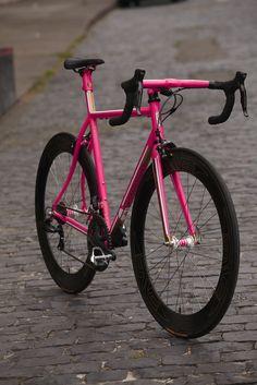Hot pink bike