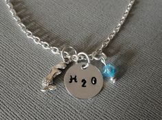 H2O necklace, H2O Just add water, by TrendsByHeni on Etsy, $14.00