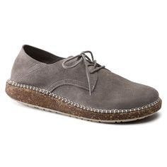 BIRKENSTOCK Gary Suede Leather Light Grey in all sizes ✓ Buy directly from the manufacturer online ✓ All fashion trends from Birkenstock Flat Lace Up Shoes, All Fashion, Fashion Trends, Calf Muscles, Grey Shoes, Soft Suede, Comfortable Fashion, Signature Style