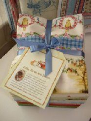 New Fat Quarter Set of Tasha Tudor fabric. The One is One collection.