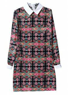 Long Sleeve A Line Dress #Longsleeve #ALineDress