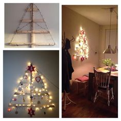 DIY Christmas tree Diy Christmas Tree, Holiday Decor, Home Decor, Decoration Home, Room Decor, Home Interior Design, Home Decoration, Interior Design