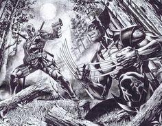 #Deadpool #Fan #Art. (Wolverine x Deadpool Commission) By: Emilcabaltierra. ÅWESOMENESS!!!™ ÅÅÅ+     https://s-media-cache-ak0.pinimg.com/474x/58/b6/96/58b6961394fc4ff91bd37e6b200165d7.jpg
