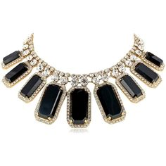 """kate spade new york """"Sparkler Glow"""" Statement Necklace, 18"""" (5,015 MXN) ❤ liked on Polyvore featuring jewelry, necklaces, accessories, colares, jewels, statement necklace, kate spade, bib statement necklace, kate spade necklace and jewel necklace"""