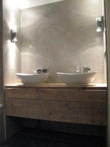 een badkamermeubel geeft je badkamer een mooie natuurlijke ...
