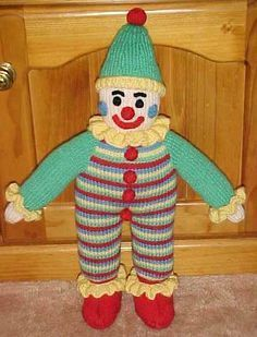 FREE Bobbles the Clown Knitting Pattern