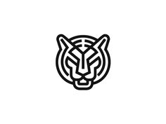 Tiger - Line Art Logo Design Geometric Tiger, Geometric Logo, Gfx Design, Icon Design, Typography Logo, Art Logo, Logo Tigre, Brand Identity Design, Branding Design