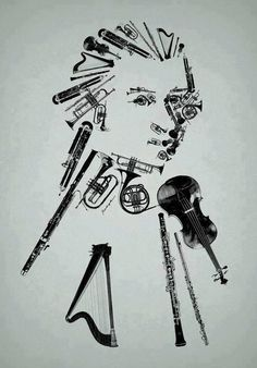 Self portrait using varieties of instruments.