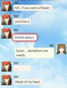 MC x Saeyoung (Luciel/Seven/707/Defender of Justice)
