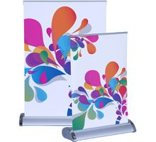Roll Up Table Top Banner Stand