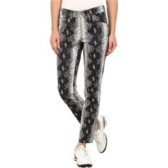 Bogner Vilma-G Snake Print Ankle Pants (Grey/Black/Dark Blue) ($225) ❤ liked on Polyvore featuring pants, blue, ankle length pants, blue ankle pants, blue pants, short pants and stretch pants