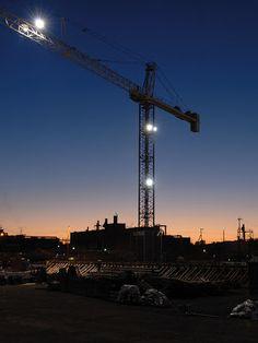 Tower Crane At night view.