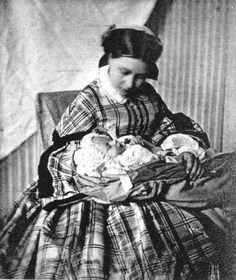 The Crown Princess with her first baby - Wilhelm. Wilhelm would eventually become Kaiser Wilhelm II. Mother and son were not to enjoy a happy relationship in later years.