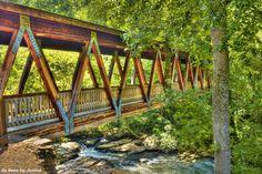 Roswell Mills Covered Bridge in Georgia