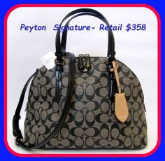 BNWT-Coach Peyton Signature Domed Satchel. Starting at $5 on Tophatter.com!
