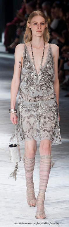 Milan Spring 2014 - Roberto Cavalli - this would look way better on someone who had some curve... like me! haha